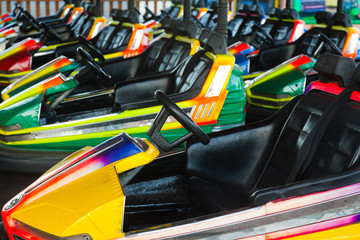 Electric cars in amusement park