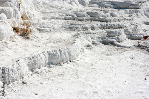 Natural phenomenon Pamukkale travertine.