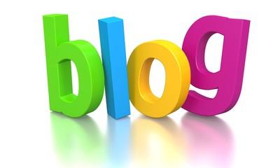 3D blog text