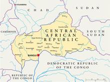 Centraal-Afrikaanse Republiek kaart (Zentralafrik. Rep Karte)