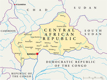 Central African Republic map (Zentralafrik. Rep. Karte)