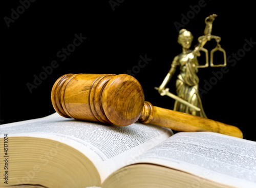 gavel on a black background closeup