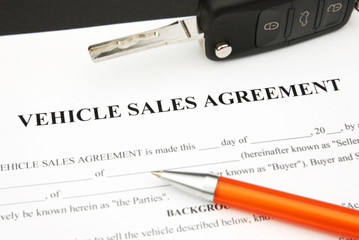Vehicle Sales Agreement Pen Car Key