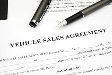 Vehicle Sales agreement with pen