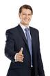 Friendly businessman handshake