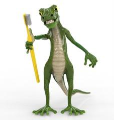 Dinosaurio con Cepillo