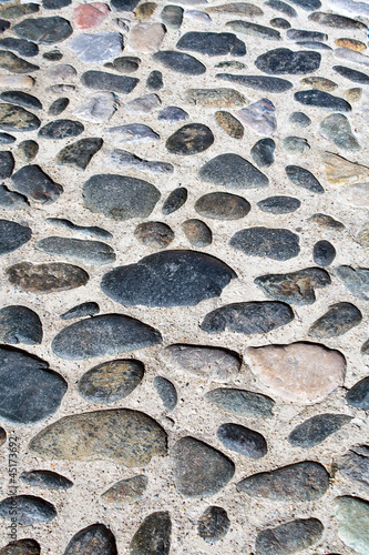 Cobble walkway as background