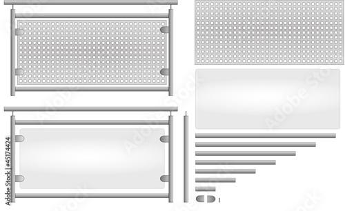 edelstahl gel nder bausatz glas lochblech stockfotos und. Black Bedroom Furniture Sets. Home Design Ideas