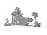 Travail d'équipe autour d'un puzzle