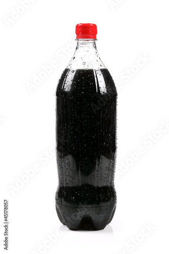 cola bottle isolated on white background