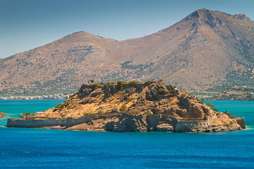 Spinalonga island -  leper colony on the coast of Crete, Greece