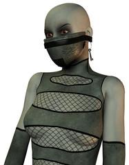 maskierte Frau im Bondage Style