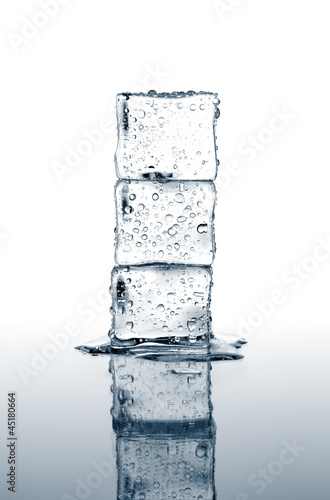 ice cubes stacked