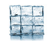 wall made of ice cubes