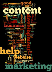 Marketing Content Development Concept