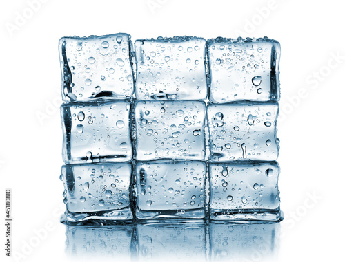 wall made ​​of ice cubes