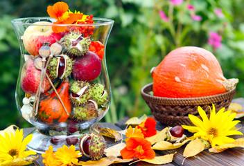 Herbstliche Terrassendeko