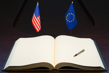 EU - USA relations concept