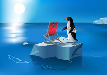 penguin sunbath