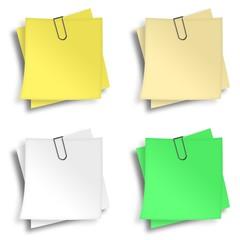 Notizzettel Zusammenstellung