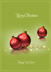 Christmas decoration background green