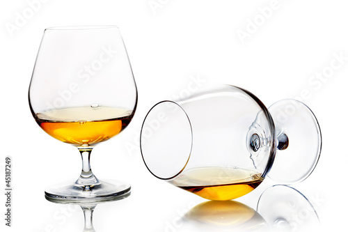 Snifters with brandy or cognac