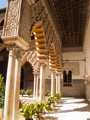 Patio de las Doncellas in Royal palace, Real Alcazar, of Seville