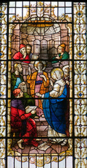 The prophecy, stained glass