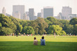 People enjoying relaxing outdoors in Central Park, NYC. - 45188664