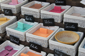 bars of soap at a French market