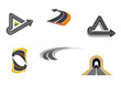 Road and highway symbols