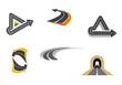 Road and highway symbols