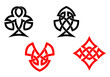 Poker card symbols in celtic style