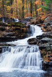 Fototapety Autumn Waterfall in mountain