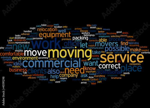 Commercial Moving Service Concept