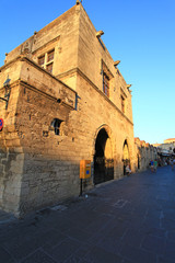 Old Rhodes Town Architecture and People