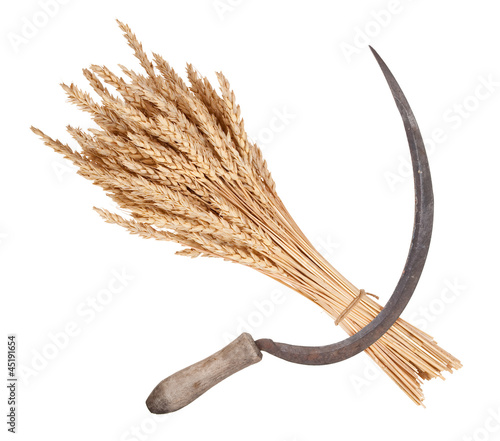 Sheaf of wheat and sickle