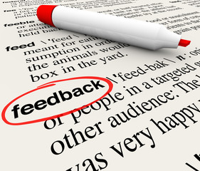 Feedback Circled Word Definition Dictionary