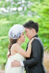 Newlyweds Couples kissing