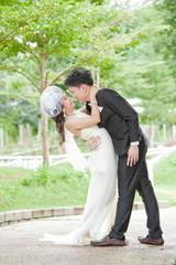 Romantic Newlyweds Couples kissing