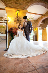 couples wedding indoor