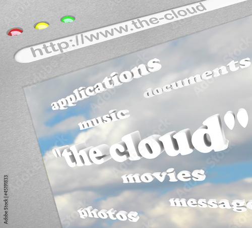 The Cloud Website Online Remote Storage