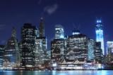 Manhattan Skyline At Night, New York City - 45192634