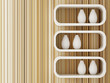 Decorated of white shelf design 3d rendering