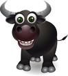 cute bull  cartoon
