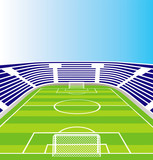 Soccer stadium. Vector illustration.