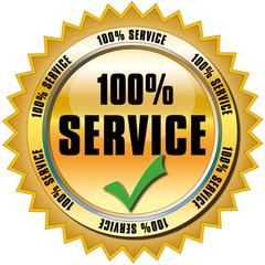 Service Button 100%