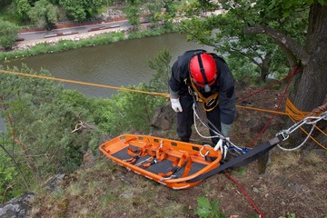 rescuer on the rope, exercise special police units