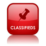"""CLASSIFIEDS"" Web Button (classified advertising ads buy sell)"