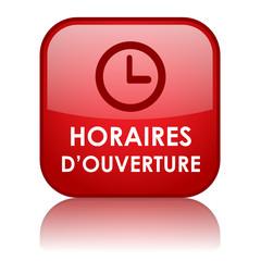 """Bouton """"HORAIRES D'OUVERTURE"""" (service clients accueil contact)"""